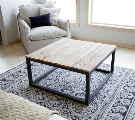 white industrial style coffee table as seen on diy
