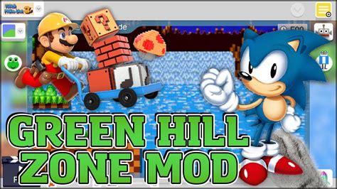 Super Mario Maker Mod Green Hill Zone Sonic The | super mario maker mod green hill zone sonic the