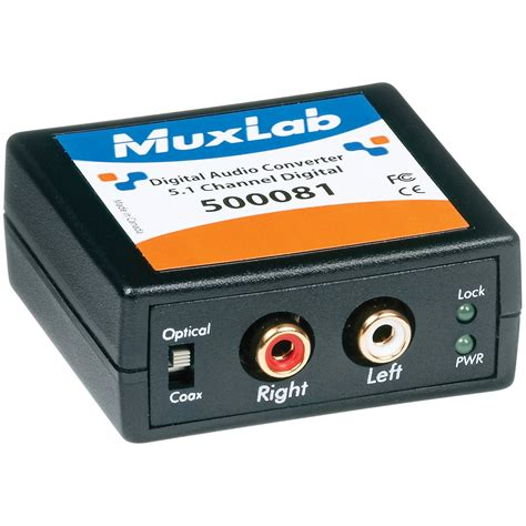 Converter Audio | muxlab 500081 digital to analog audio converter and 500081 b h