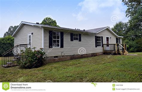 House Plans With Covered Porches by Double Wide Mobile Home Royalty Free Stock Photos Image