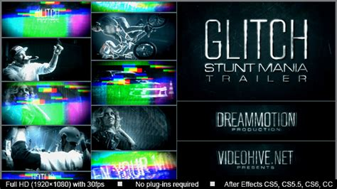 after effects free template glitch trailer glitch trailer grunge after effects templates f5