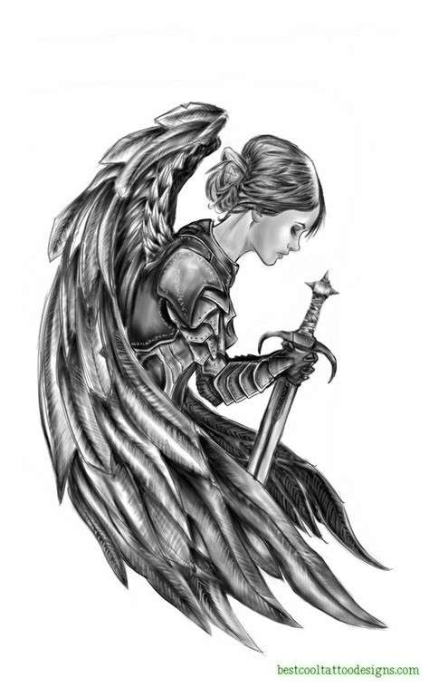 cool angel tattoo design in designs best cool designs