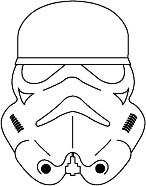 Stormtrooper Coloring Pages wars pumpkin stencils printable pages