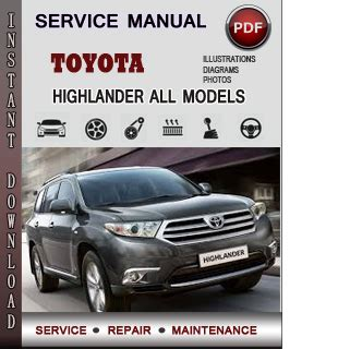 2008 toyota highlander hybrid service manual