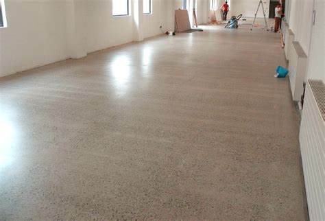 Polished concrete after nine grinds, then sealed with PU