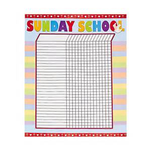 sunday school attendance template sunday school attendance sticker chart