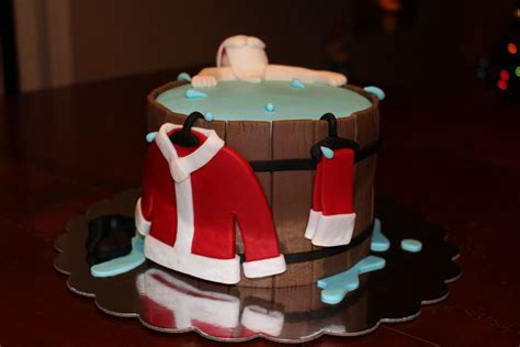 santa in bathtub hot tub santa cakecentral com