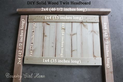 twin wood headboard country girl home how to make a solid wood twin headboard