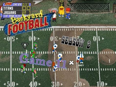backyard football pc game backyard football 1999 pc season 2 game 11 teen