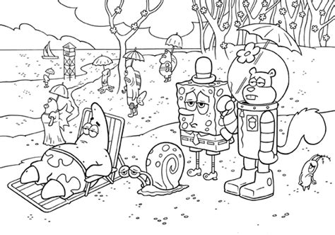 spongebob cartoon coloring pages