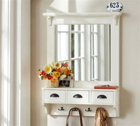 diy entryway organizer diy mirror coat rack pb entryway organizer mirror