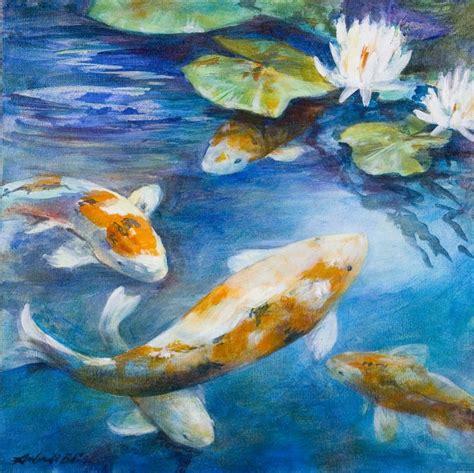 acrylic painting koi fish koi acrylic painting prints available my artwork