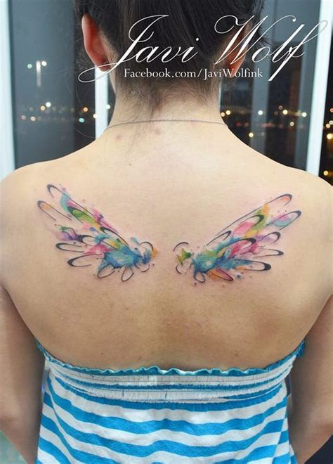 gallery watercolor wing tattoos