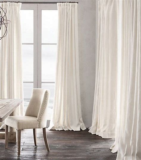 white linen curtains 9 d 233 cor tricks to guarantee a polished space restoration hardware restoration and hardware