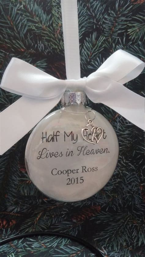 christmas ideas fpr someone who lost a loved one memorial ornament in memory of loved one half my