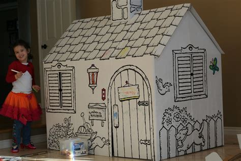 cardboard playhouse to color the newell memos coloring house