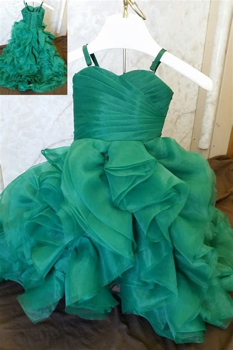 Flower Dress 8950 miniature bridal gowns with color