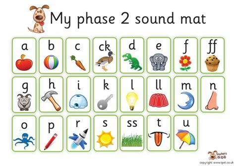 phase 2 letters and sounds mat s pet phase 2 sound mat free classroom display