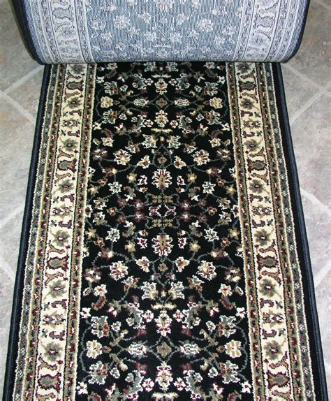 rug depo 148666 rug depot and stair runner remnants 26 quot wide 953 black ebay