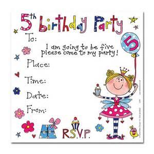 s 5th birthday invitation cards invites ark