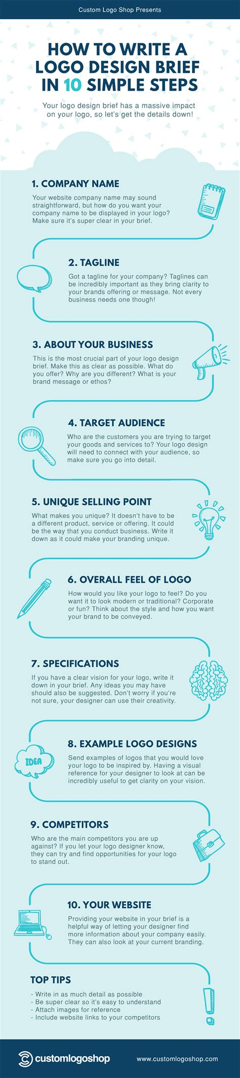 design brief infographic how to write a logo design brief in 10 simple steps