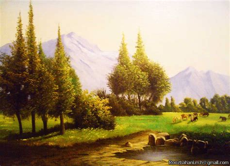 Landscape Paintings Realism Landscape Painting Realism By Roozbahani On Deviantart