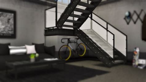 industrial  stairs deco  mxims sims  updates