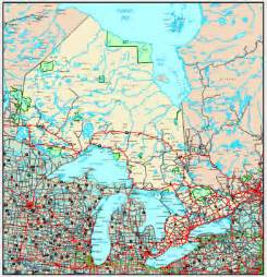detailed map of ontario canada ontario map maps of ontario province