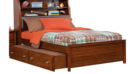 Boy Trundle Beds Sets Santa Cherry 4 Pc Bookcase Bed W Trundle