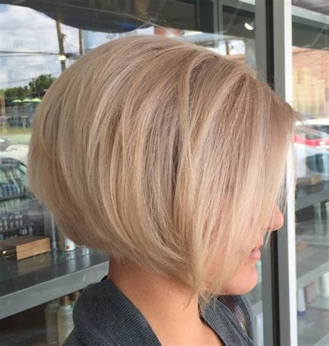 best short ash blonde hair style for older ladies 40 short bob hairstyles layered stacked wavy and angled