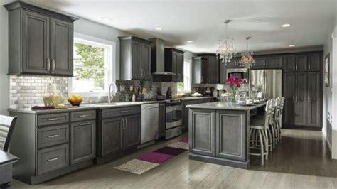 cherry wood saddle madison door gray stained kitchen
