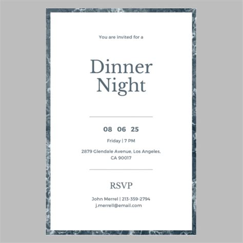 Annual Dinner Invitation Card Template by 8 Birthday Dinner Invitations Free Sle Exle