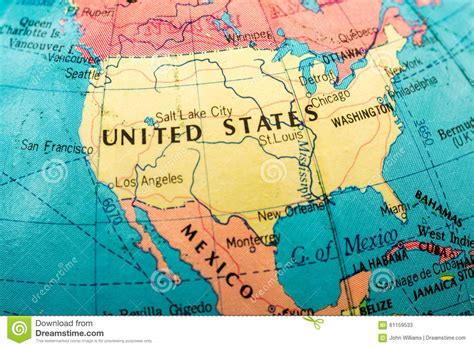 united states map up macro image of a map of america stock image image of