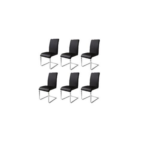sedie nere 6 sedie per tavolo nere mdm arredo mobili complementi