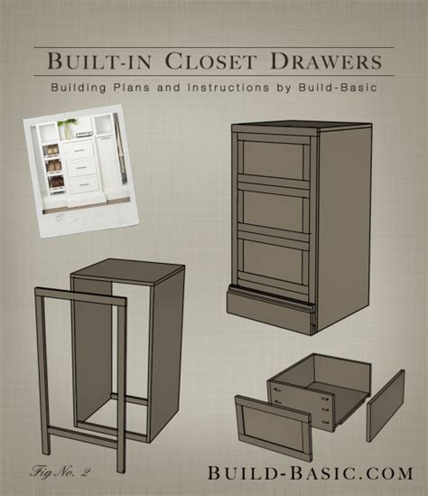 the build basic closet system built in closet drawers