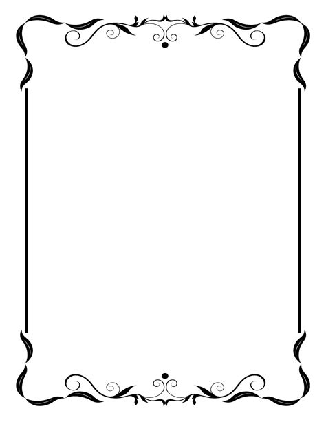 black and white border cards template free printable borders for wedding invitations images