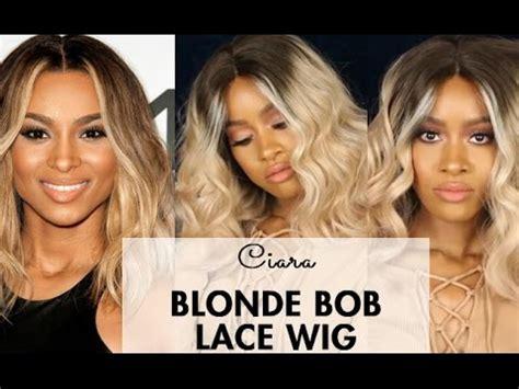 blonde bob youtube ciara inspired blonde bob lace wig by sassy secret youtube