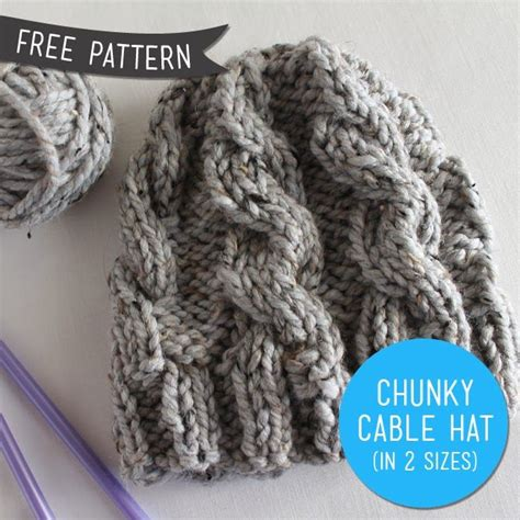 pattern for chunky yarn free pattern chunky cable knit hat revised sew diy
