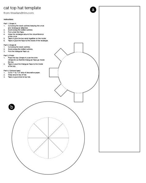 top hat template for hat top hat pattern steunk search