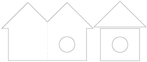photo template for card house bird house