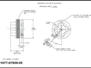L 6190 Clutch fan clutch hub parts p43 tpi