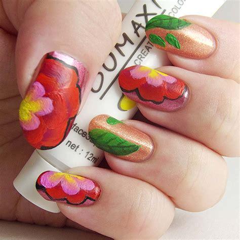 acrylic nail with acrylic paint bmc creative nail gel acrylic manicure paint