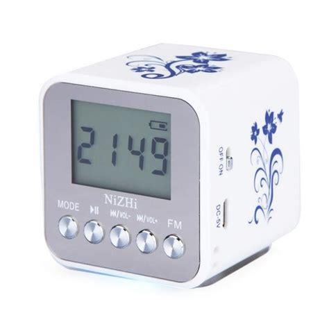 nizhi tt 032a lcd display alarm clock digital speaker fm radio usb tf mp3 player ebay