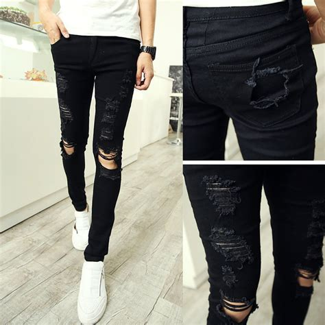 with holes mens ye jean