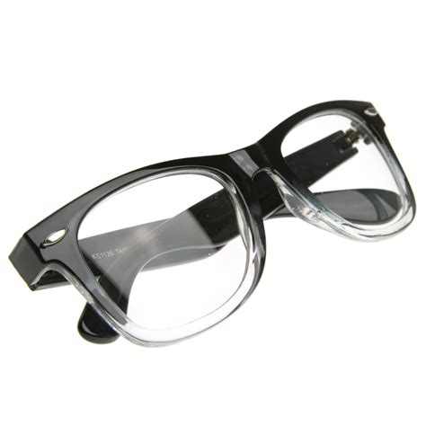 two tone classic jello retro clear lens glasses rx able