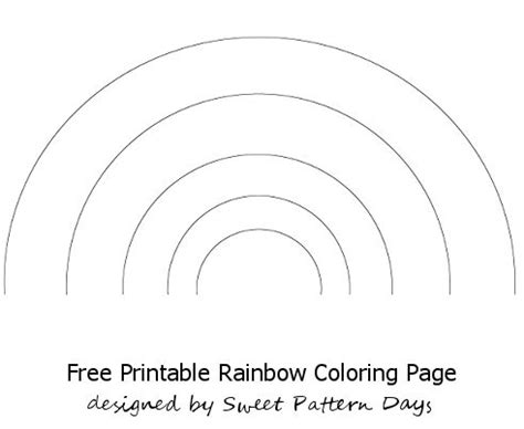 printable rainbow coloring sheet activity