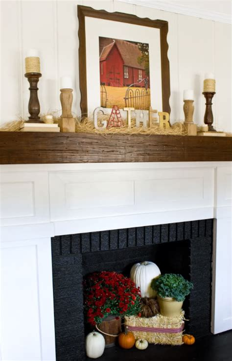 Decorating Ideas For Mantels Picture Of Thanksgiving Mantel Decorating Ideas