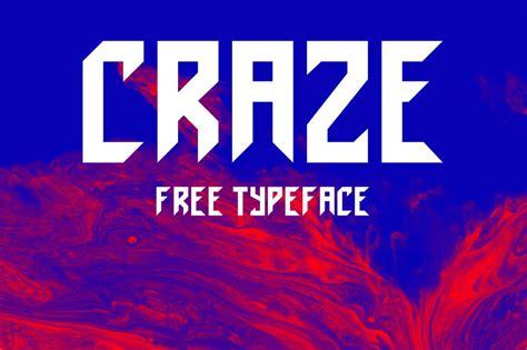 craze typeface befontscom