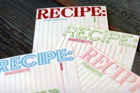 Cookie Exchange Recipe Card Template by Cookie Recipe Cards The Sweetest Occasion