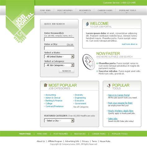 templates for job portal job portal website template 8175